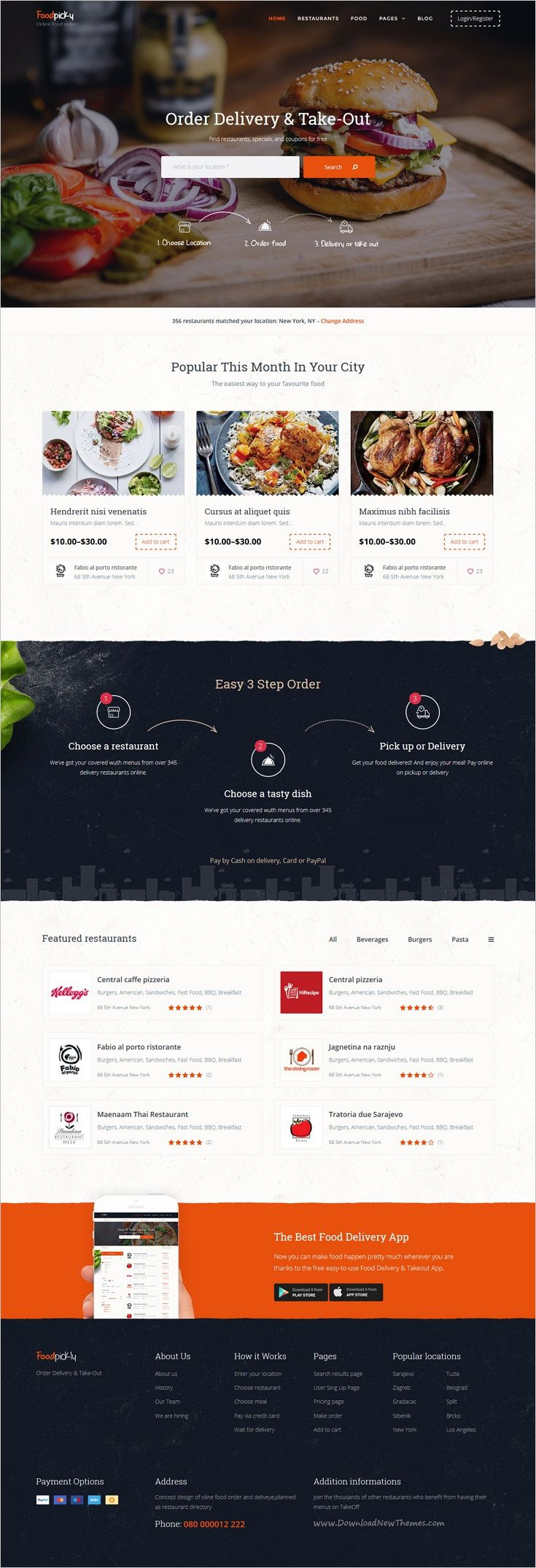FoodPicky is a awesome #WordPress Template best suitable for #webdesign #food ordering & delivery system like FoodPanda, JustEat, Zomato, Grubhub, Eat24Hours, delivery.com, DoorDash website download now➩ https://themeforest.net/item/food-delivery-restaurant-directory-wordpress-theme-foodpicky/17966079?ref=Datasata