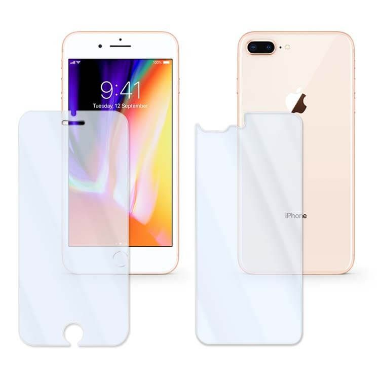 2x front back tempered glass iphone 8 plus glass phone