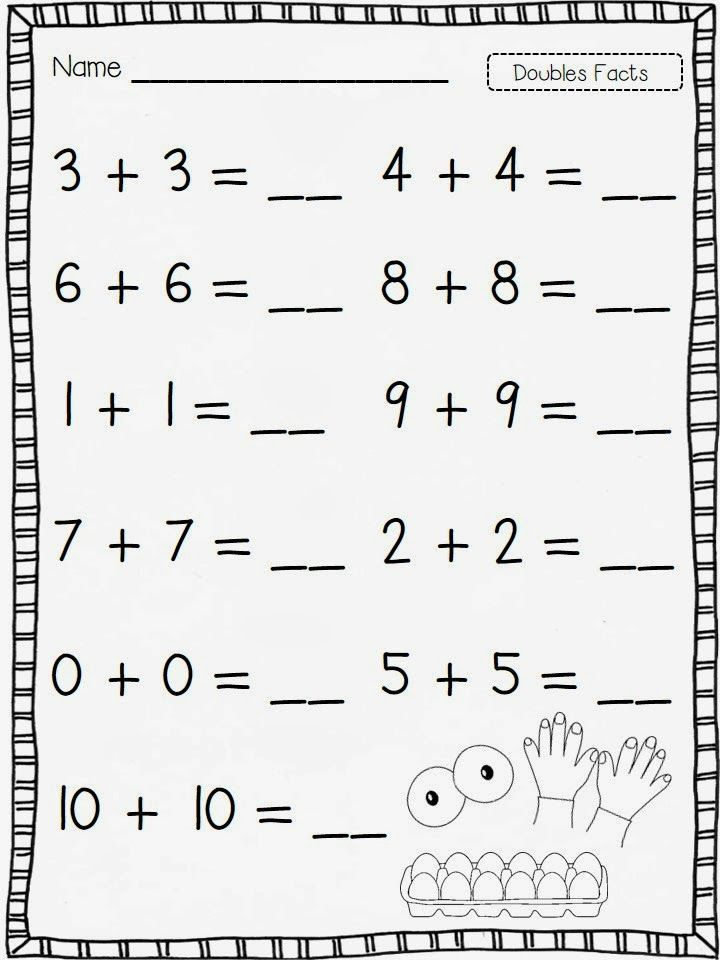 doubles freebie   Doubles facts, First grade worksheets ...