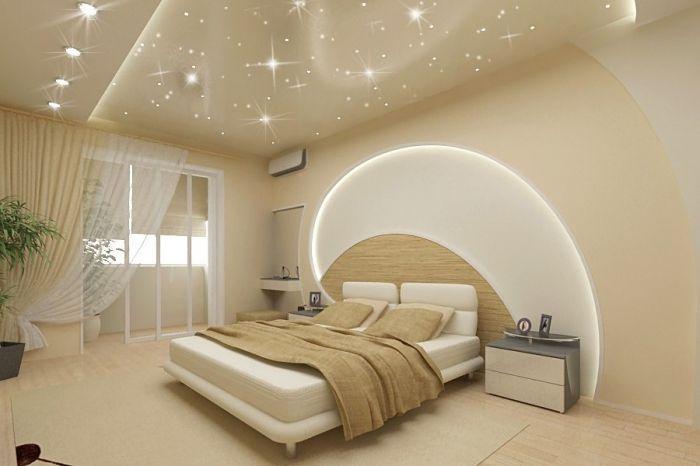 modèle de plafond moderne suspendu avec éclairage led à effet