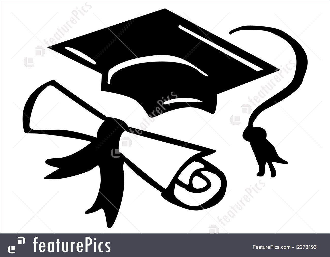 education symbols of graduation stock illustration