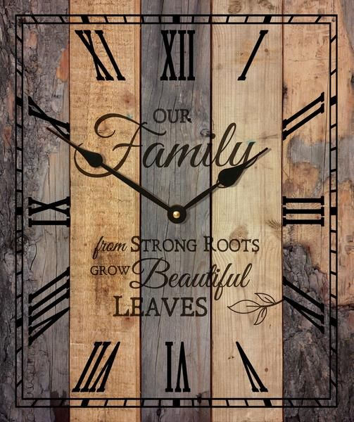 This Beautiful Inspirational Word Clock Is Made From Recycled Pallets,  Sanded, Stained And Made Into A Magnificent Wall Clock That Is Inspirational,  ...