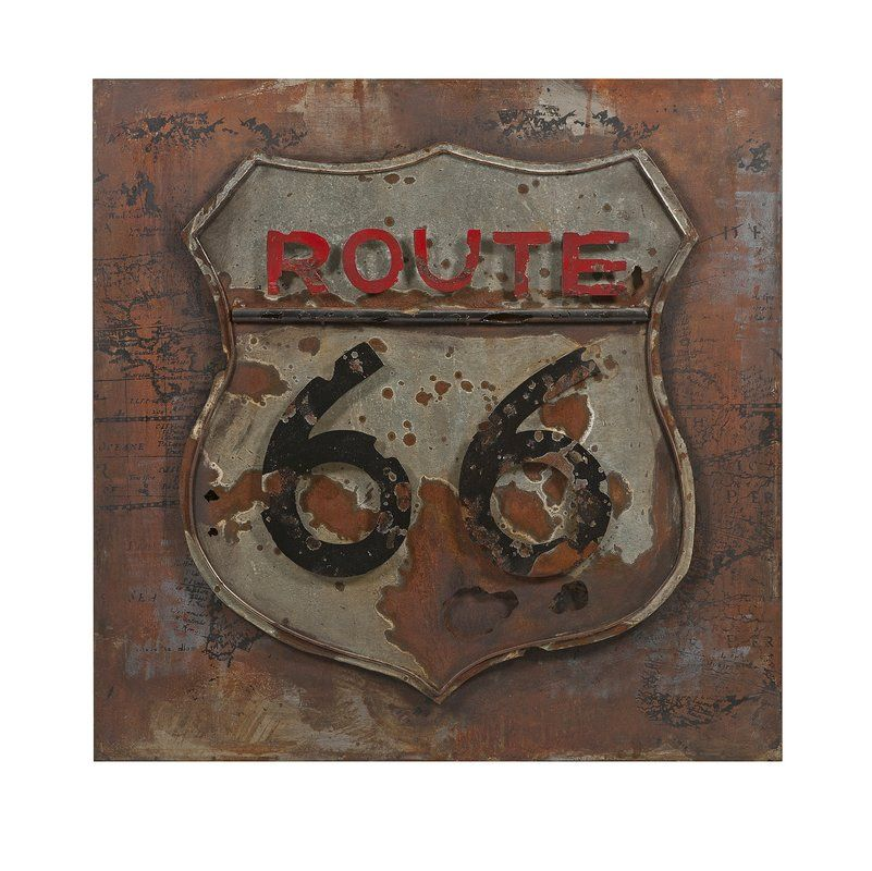 Road Sign Wall Decor Enchanting Route 66 Dimensional Vintage Wall Décor  Signs  Pinterest Decorating Design