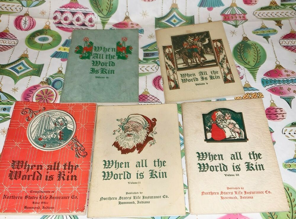 Antique northern state life insurance christmas booklets