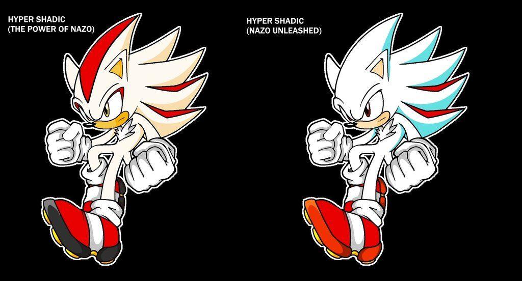 Classic Hyper Shadic And Moddern Hyper Shadic Metal Gear Rex Sonic The Hedgehog Sonic