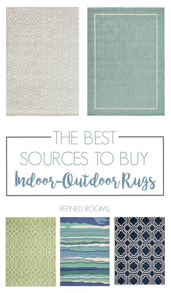 BEST SOURCES FOR INEXPENSIVE INDOOR-OUTDOOR RUGS #outdoorrugs