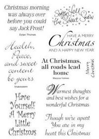 Christmas Sentiments For Cards.Clear Stamps Christmas Sentiments From Hobby Art