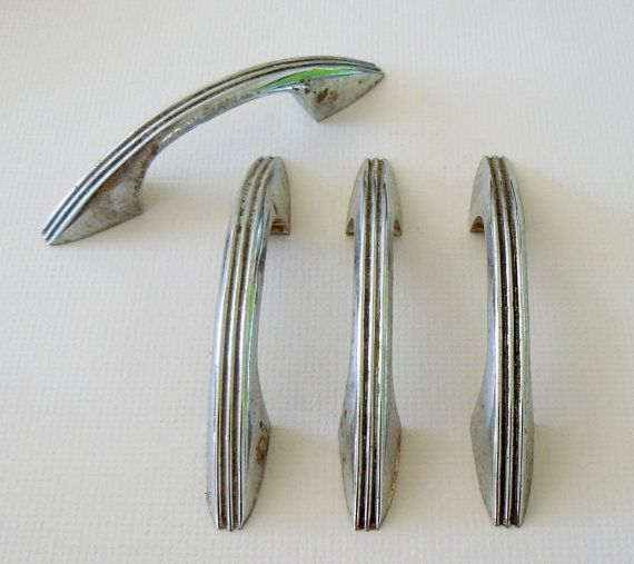 Vintage Kitchen Yelp: Retro Chrome Kitchen Cabinet Hardware S Vintage Style