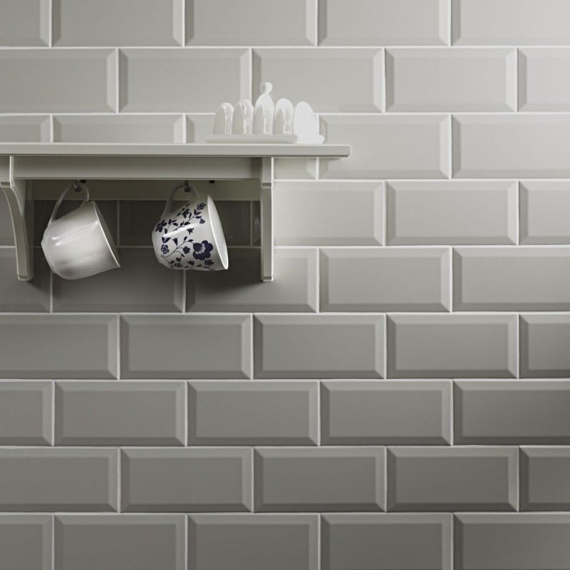 Kitchen Tiles Grey details about gloss light grey metro bevelled edge ceramic wall