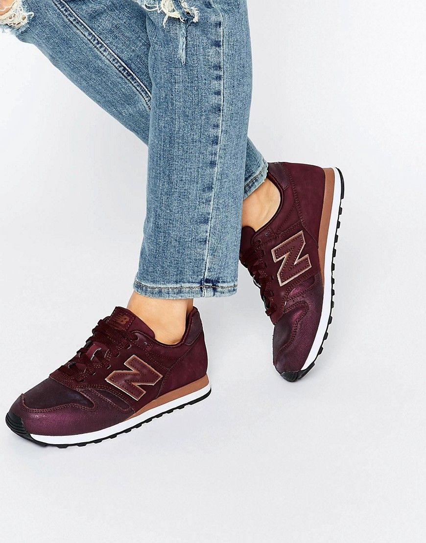 new balance 373 burgundy metallic rose