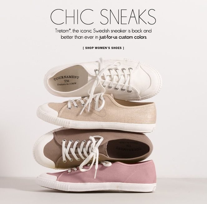 J crew shoes, Shoes ads, Tretorn sneakers