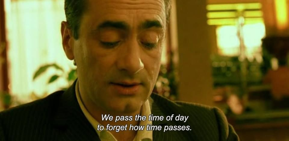 We Pass The Time Of Day To Forget How Time Passes Amelie 2001 Best Movie Lines Girls On Film Movie Lines