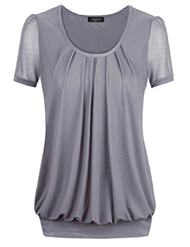 Women Stand Neck T Shirt Ladies Printed Tops Tee Blouse Short Sleeve Pullover