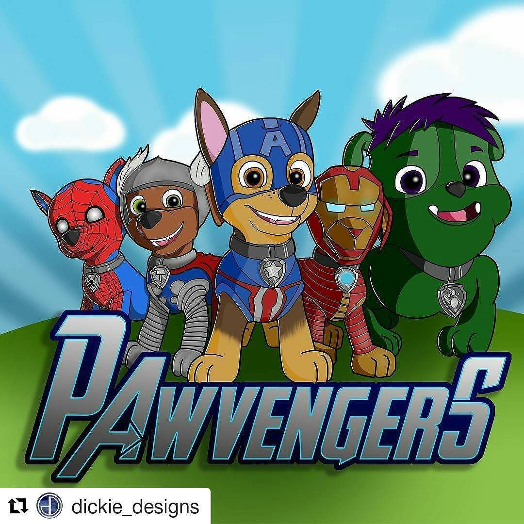 Paw Patrol And Avengers Crossover . . #pawpatrol #marvel