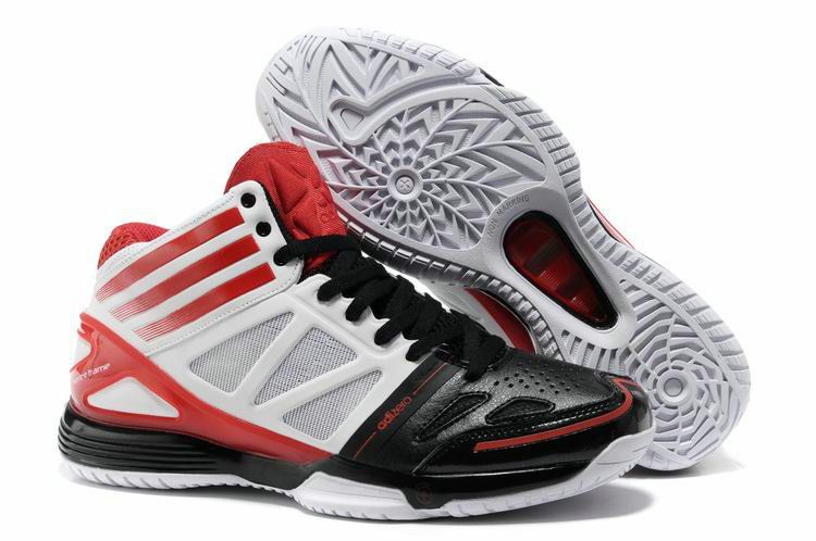 e70f16b88ab4 New derrick rose shoes Adizero Bash 3 White University Red Black G21733