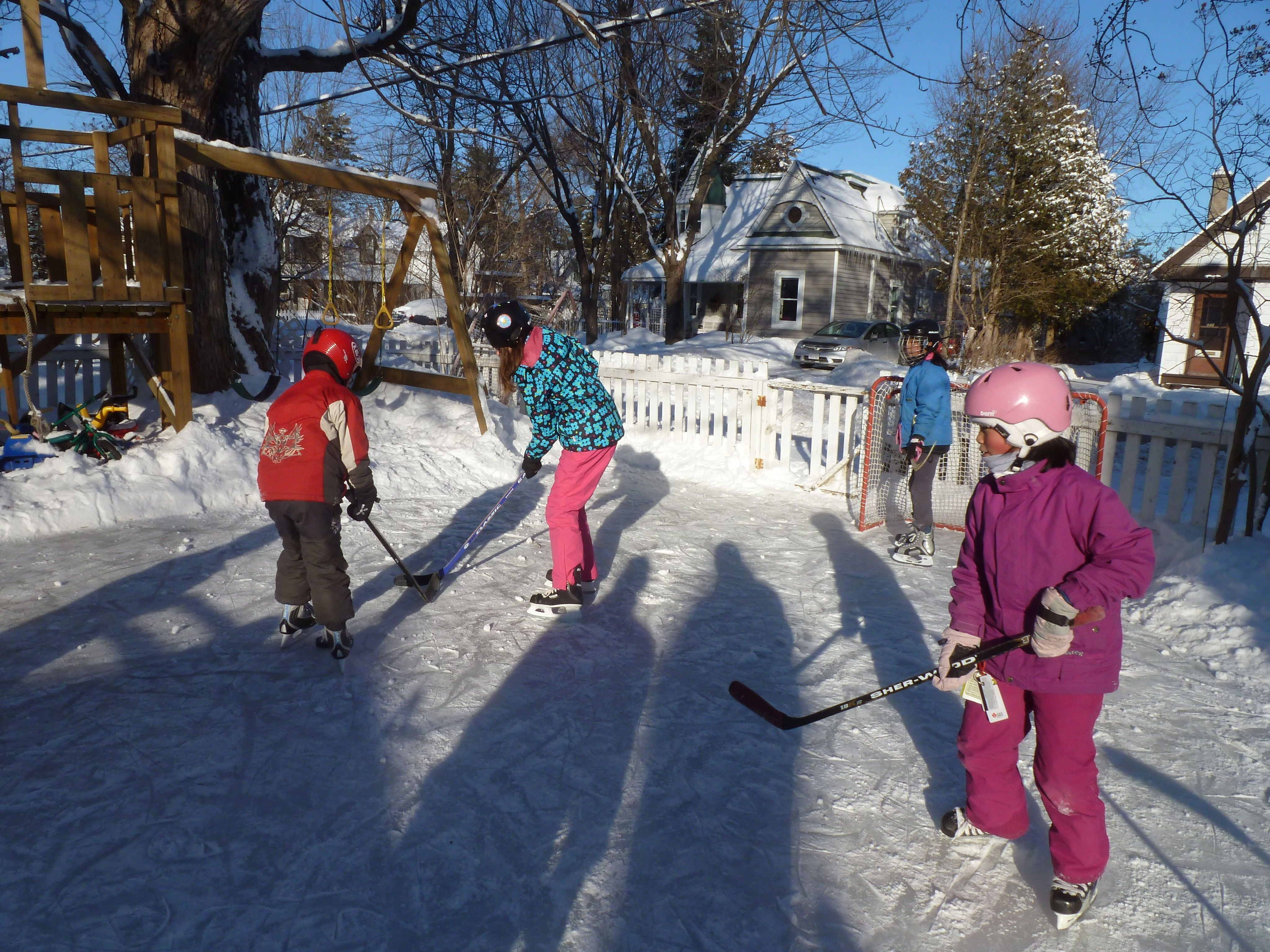 build an outdoor skating rink got questions get answers