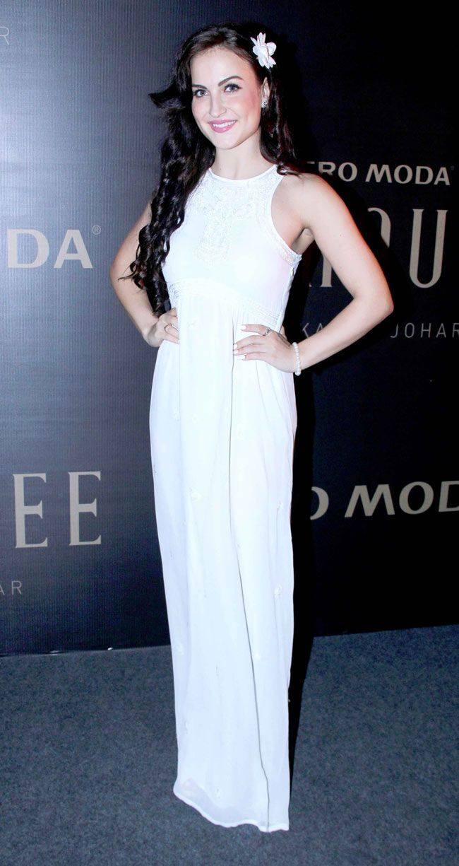 Elli avram at karan joharus new collection launch bollywood