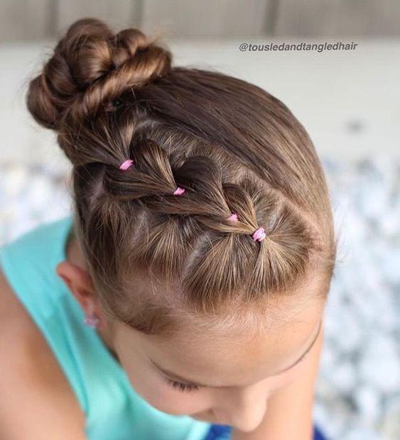Extremadamente atractivo peinados con gomitas Galería de ideas de coloración del cabello - Girl hair dos, Hair styles, Easy little girl hairstyles