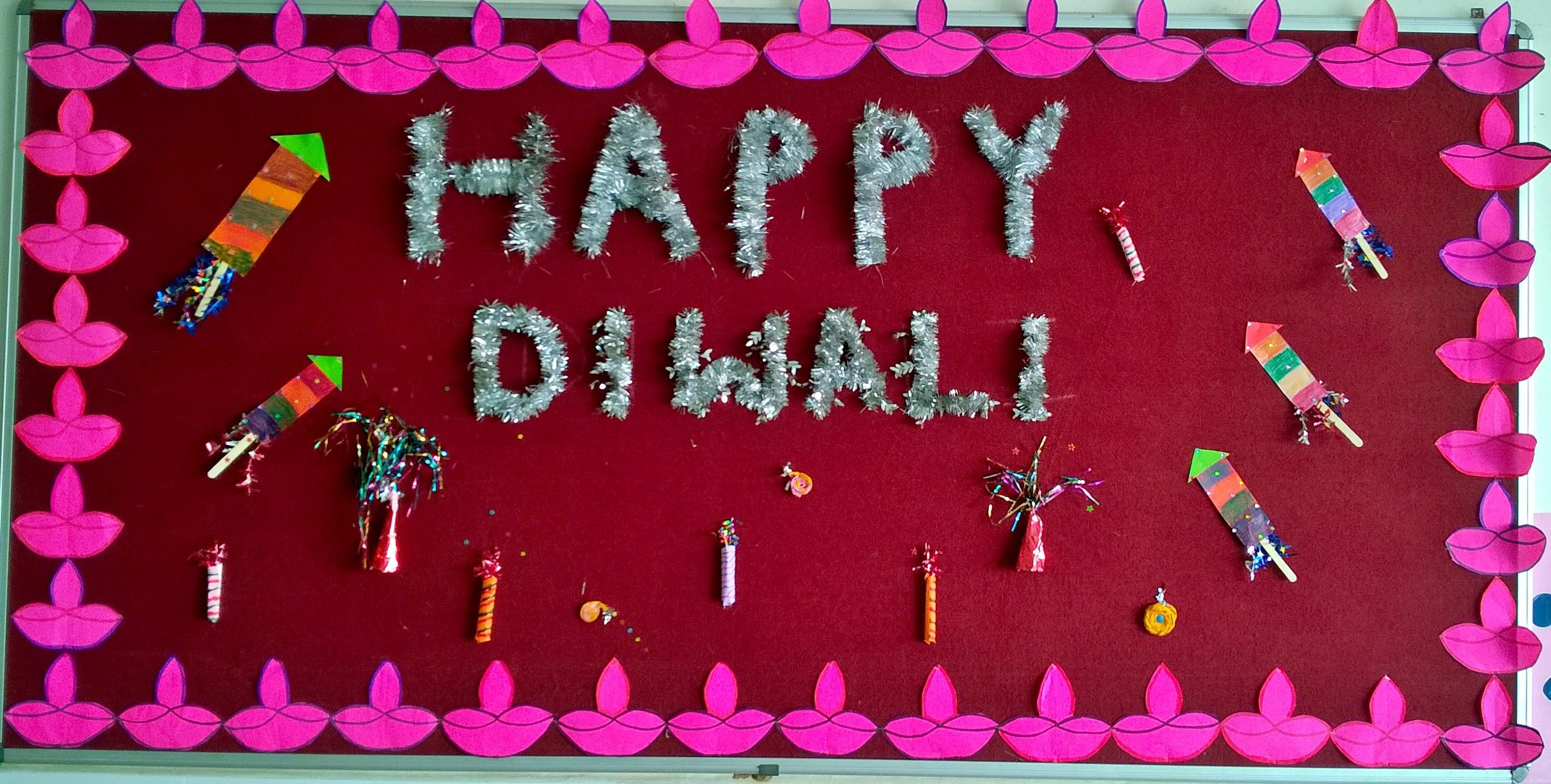 Bulletin Board Decor Diwali Diy Board Decoration School