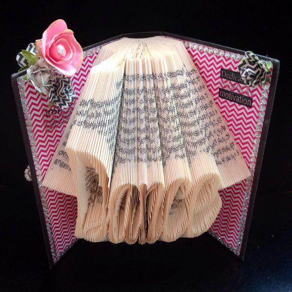Dance Folded Book Art, Dancer, Gift for Dancer, Gift Ideas, Art ...