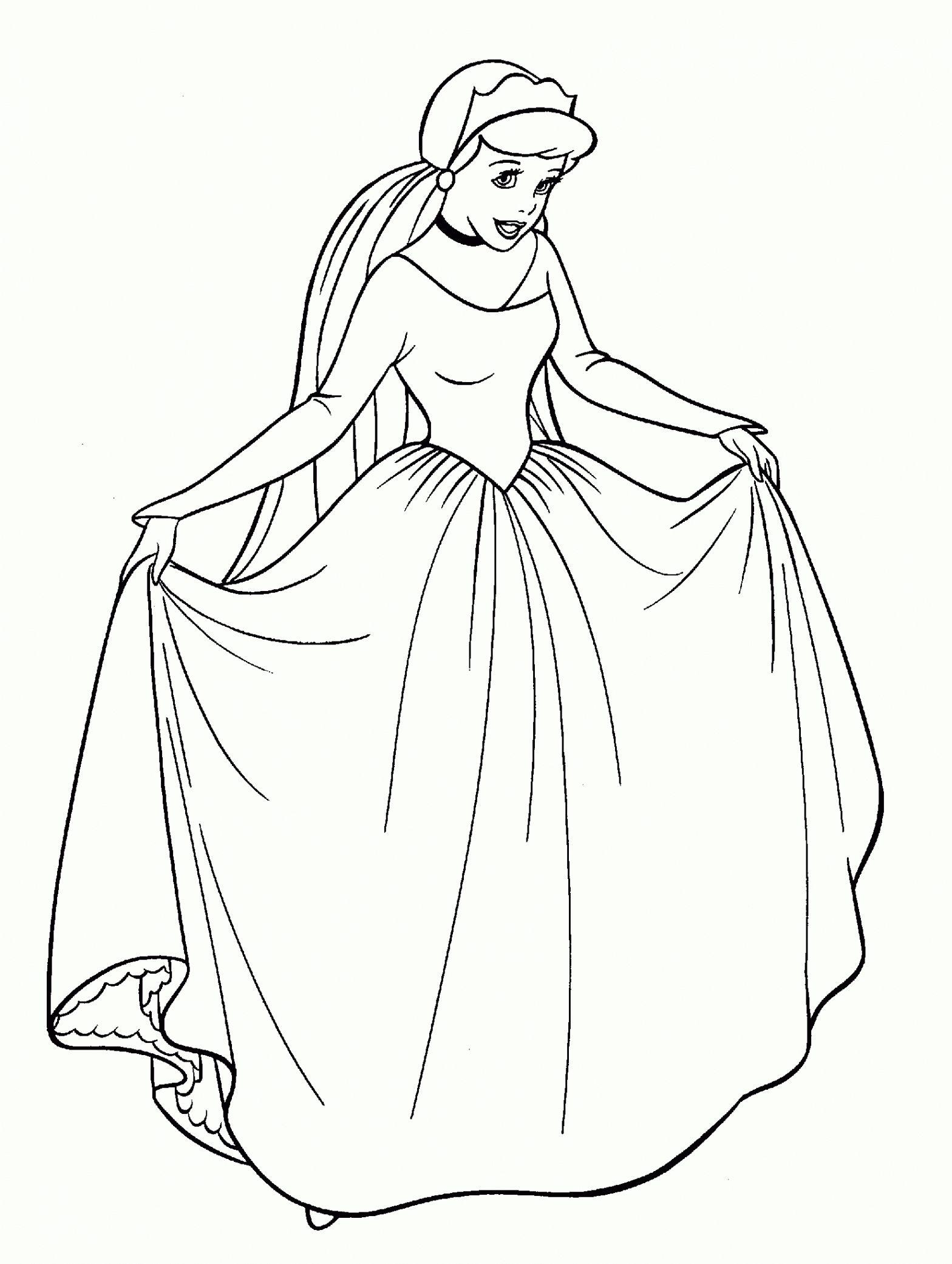 Coloriage Princesse Disney En Ligne - KBACHA.COM | KBACHA.COM | Coloriage cendrillon, Coloriage ...