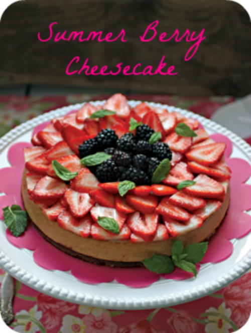 SUMMER BERRY CHEESECAKE Recipe from Nut Butter Universe, plus Review and Giveaway!