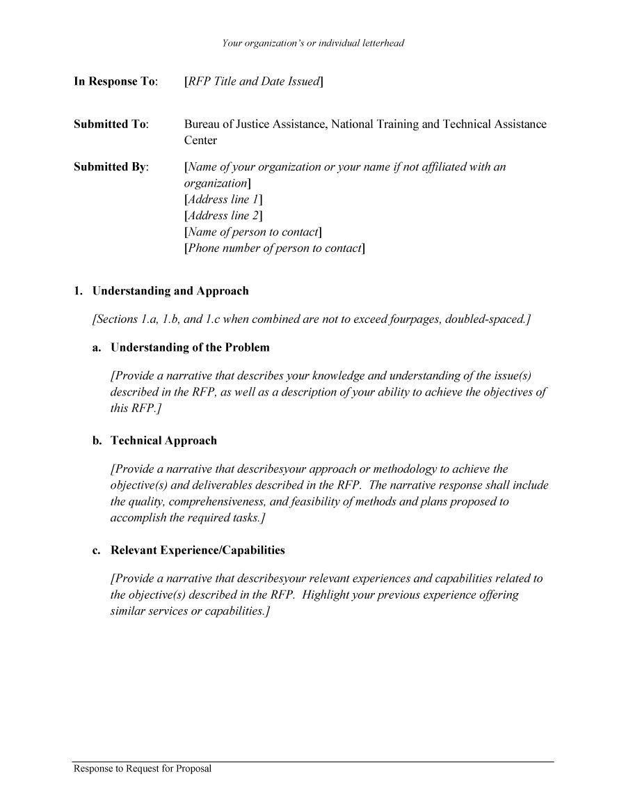 Rfp Template With Images Proposal Templates Business Template