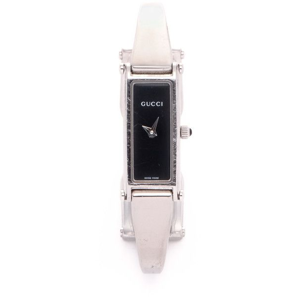 Gucci Pre-Owned: 1500l Timepiece (3 270 ZAR) ❤ liked on Polyvore featuring jewelry, watches, silver tone, stainless steel wrist watch, gucci, pre owned jewelry, gucci wrist watch and pre owned watches