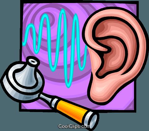 ear examination Royalty Free Vector Clip Art illustration