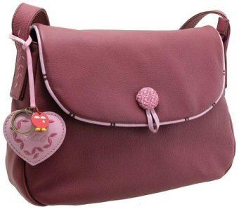 0d41fc0041a3 Yoshi Wissage shoulder bag YB42 with embroidered button detail ...