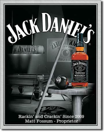 Personalized Jack Daniels Billiards Tin Sign 29.99