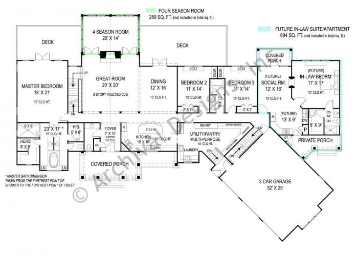 Pepperwood House Plan Ranch House Plans In Law House House Plans One Story