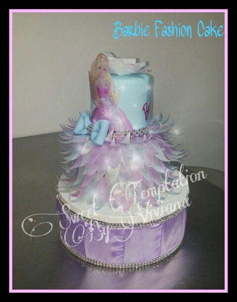 Fashion Barbie Cake Barbie cake Tecnica papel de arroz