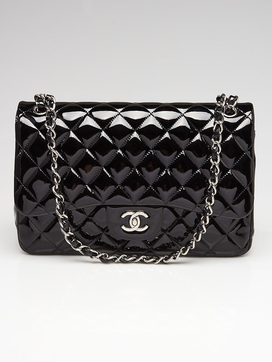 7dbb7142cfdb ... in Chanel's classic collection, which continually increase in value.  This particular bag features stunning quilted patent leather in a fabulous  black ...