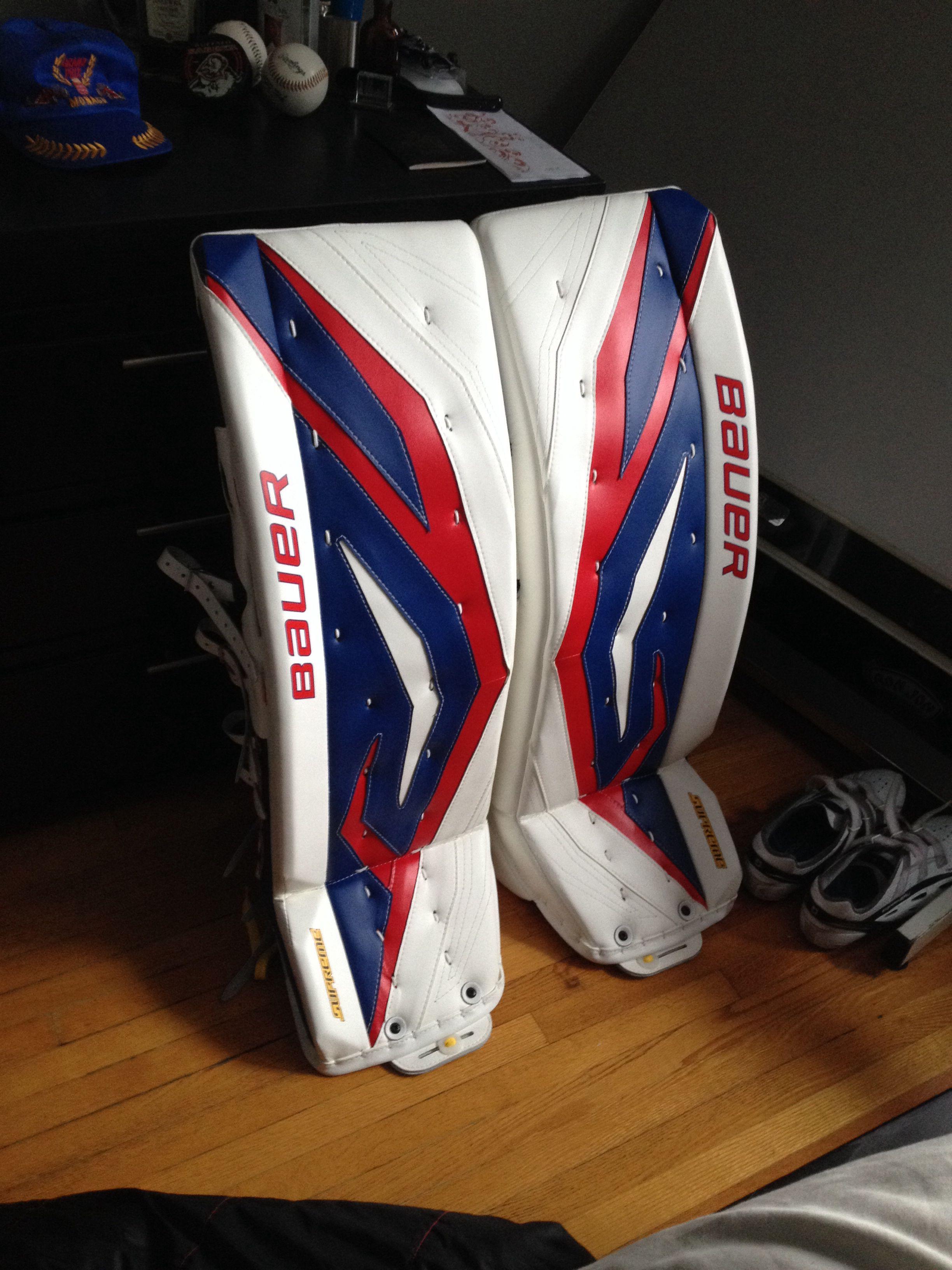 Custom Bauer Total one pads 35+2 | Goalie stuff | Pinterest