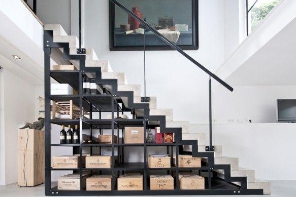 Betonnen trap met staal prinsengracht vi kodde architecten