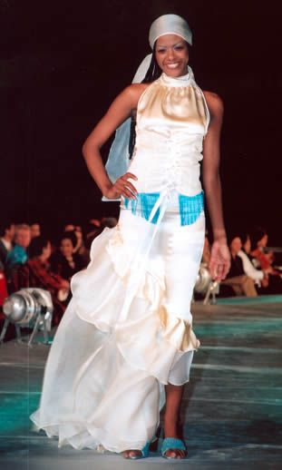 fashion design show had dresses influenced by ancient