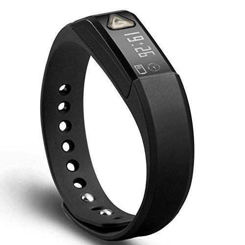 EFO-S BLACK K5 Wireless Activity and Sleep Monitor Pedometer Smart Fitness Tracker Wristband Watch Bracelet for Men Women Boys Girls Ladies Man Iphone Sumsung HTC (Black)