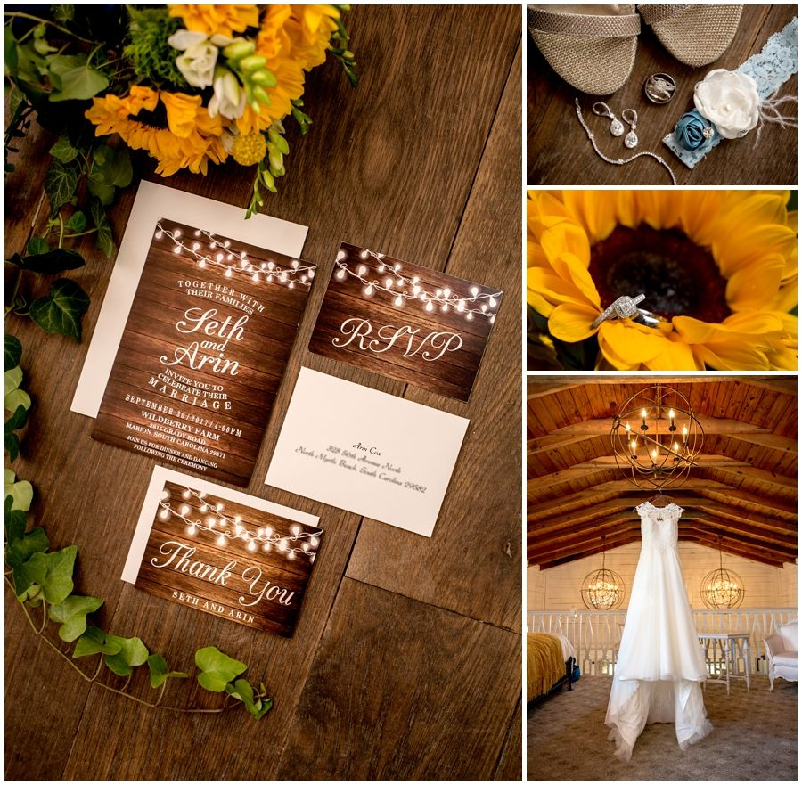 Sunflower Decor Wedding At Wildberry Farm Marion Sc Myrtle