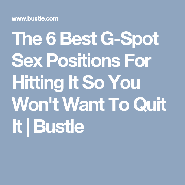 Sex positions targeting the g spot