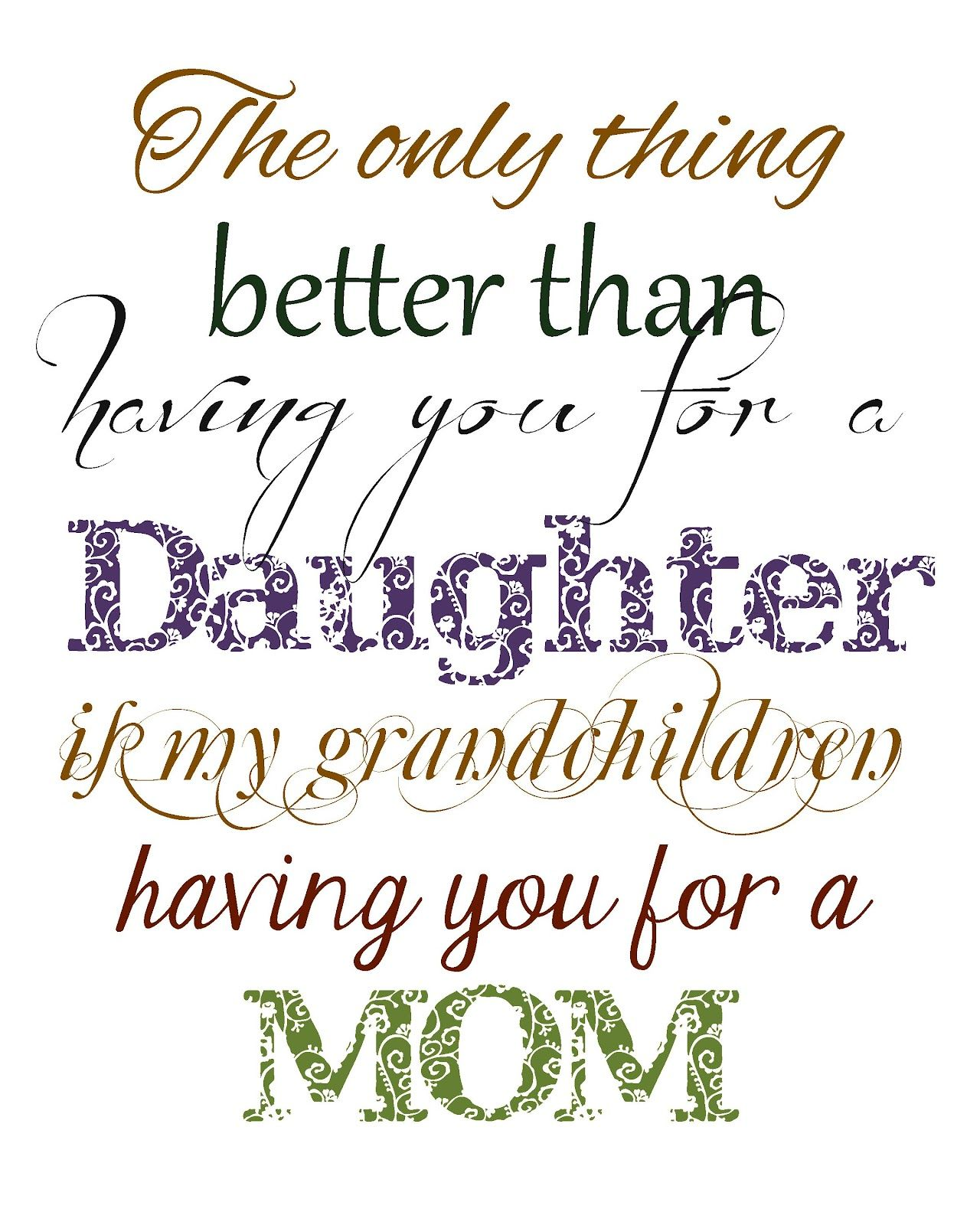 I Love My Daughter Quotes My Daughter Is The Best Quotes  Christmas In September  Free