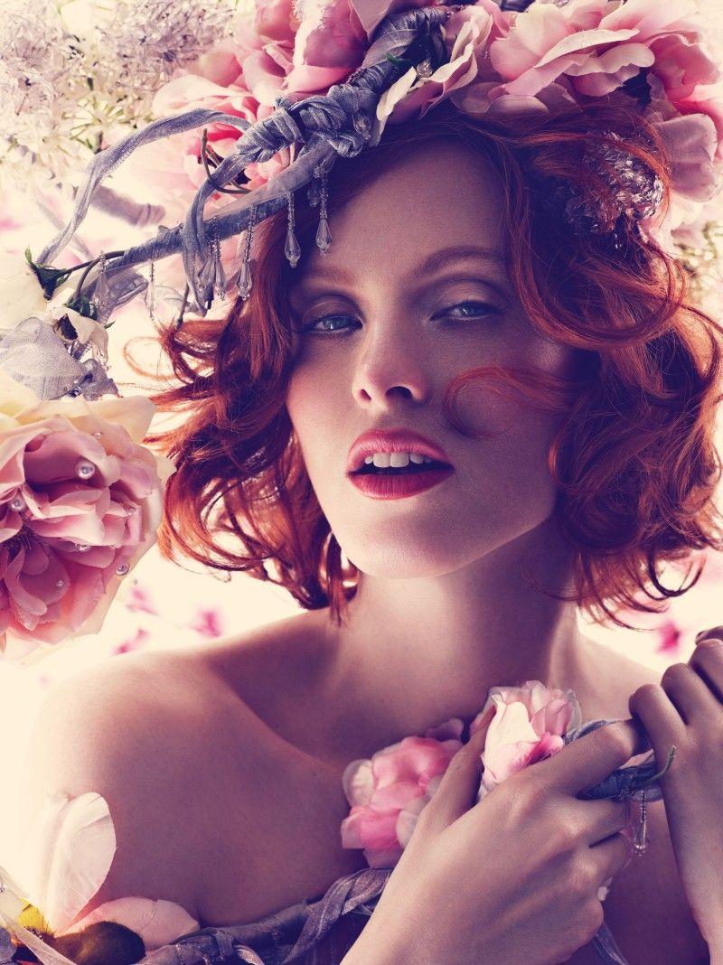 La Vie En Rose – British model and singer Karen Elson embodies the spirit of spring in Harper's Bazaar UK's May cover story.