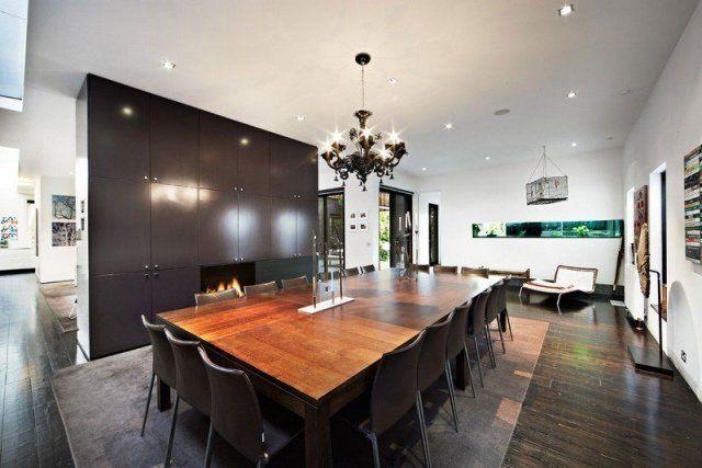 Salle à manger moderne: 112 idées d\'aménagement réussi | Lustre ...