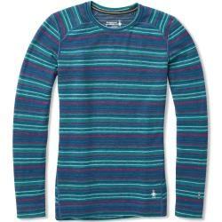 Photo of smartwool Merino 250 Baselayer Pattern Crew Damen Langarm-Shirt blau L SmartwoolSmartwool