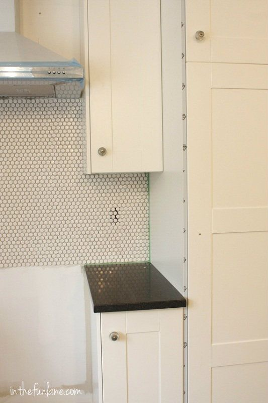 Penny tile backsplash york reno pinterest posts - Penny tile backsplash images ...