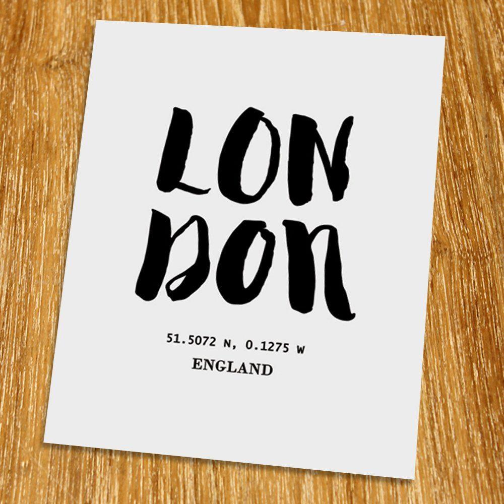 london print (unframed), coordination print, scandinavian wall art