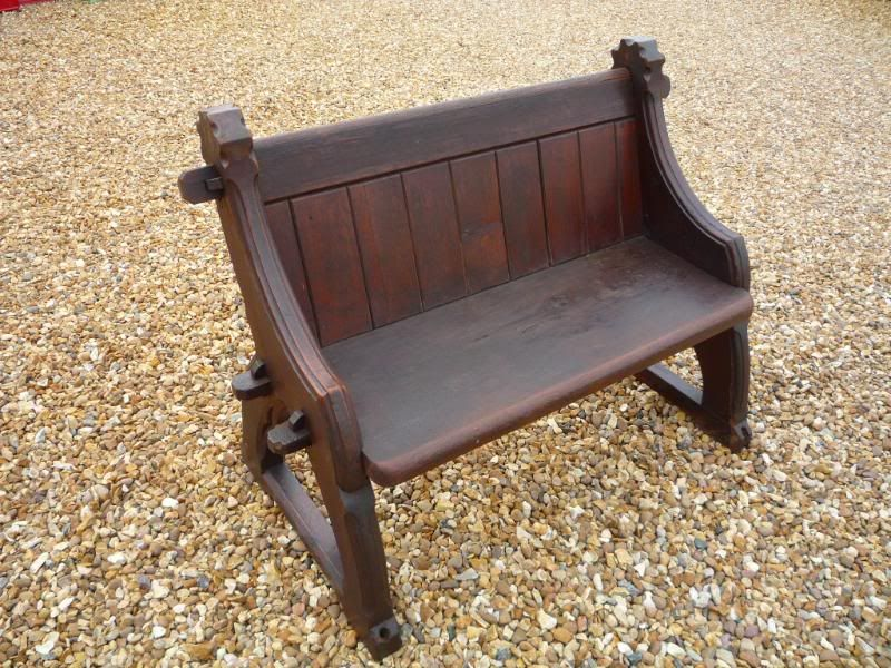 Cool Antique Used Reclaimed Gothic Pitch Pine Church Pew Circa Dailytribune Chair Design For Home Dailytribuneorg