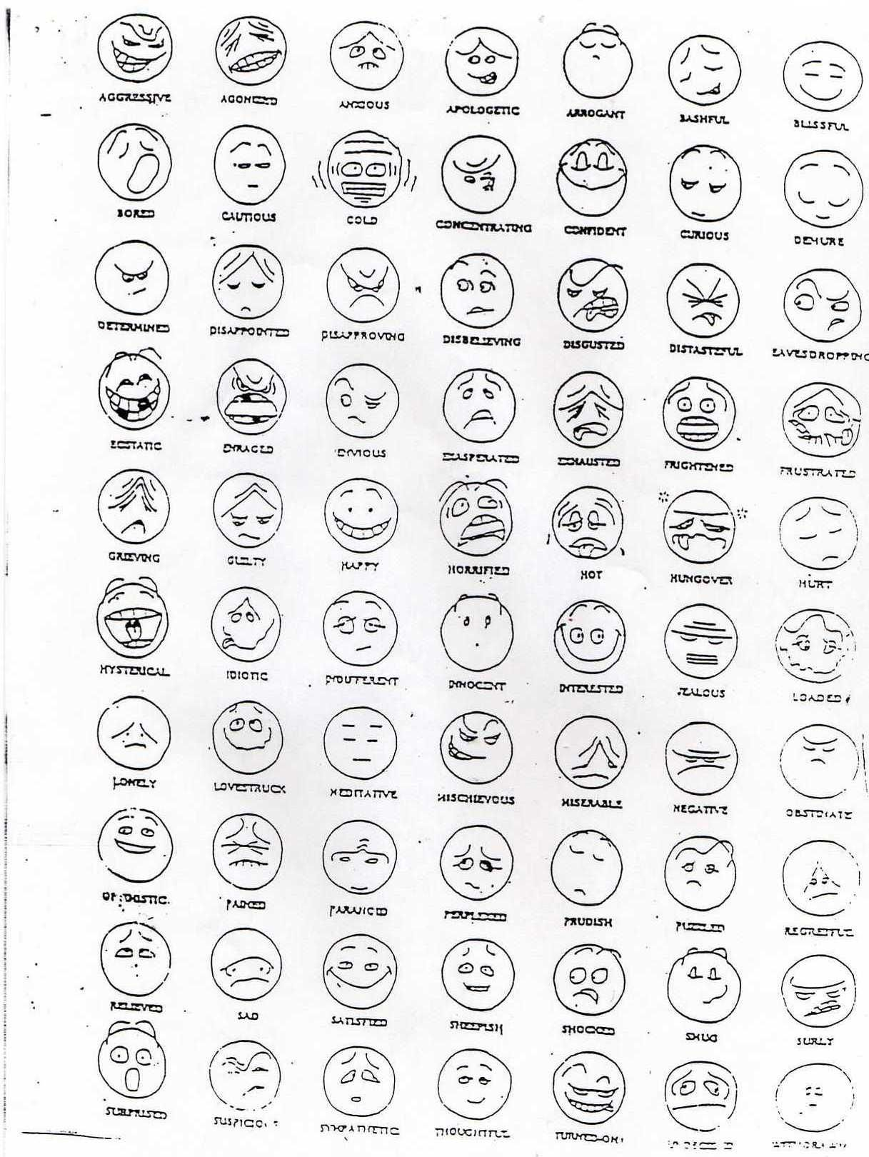 Face Expression Template