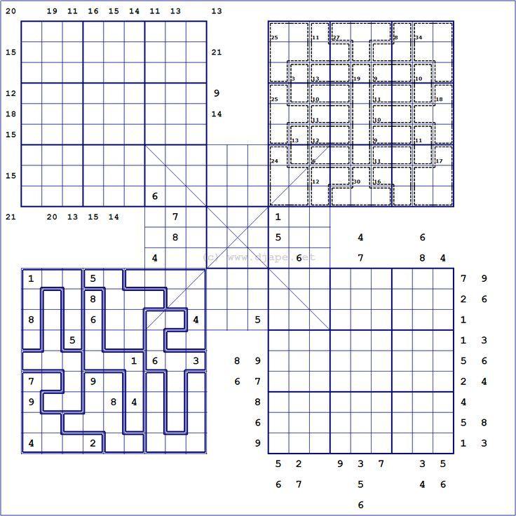 sudoku variations - חיפוש ב-Google   sudoku variations   Pinterest