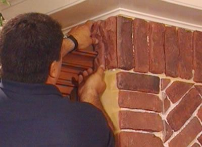 How To Install Brick Veneer Around An Arched Alcove Thin Brick And Bricks